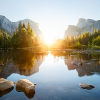 Watch the Summer Sunrise Inside the Yosemite Valley