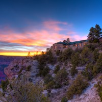 Grand Canyon Lodge at Sunset
